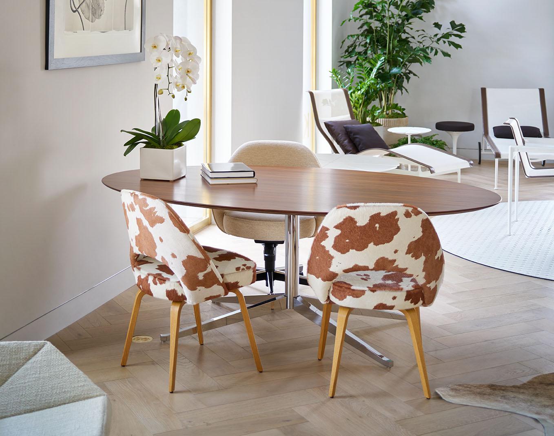 Knoll Saarinen Executive Armless Chair Edelman Leather